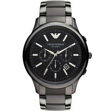 【支持購物卡】阿瑪尼ARMANI男士石英鋼帶腕表三眼大表盤運動表男款手表 AR1452