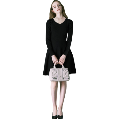 tobebery打底智熏裙連衣裙女2020春秋裝新款中長款法式桔梗裙復古氣質裙子