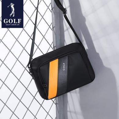 GOLF/高爾夫新款男士包包單肩包運動小包潮牛津布斜挎帆布撞色條紋背包  D942850