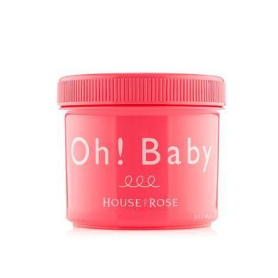 【支持购物卡】日本进口 House of rose OH BABY身体去角质嫩肤磨砂膏 570g/罐 香港直邮