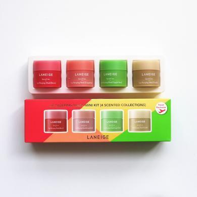 【支持购物卡】 韩国  8g*4/瓶   兰芝夜间保湿修护唇膜  香港直邮