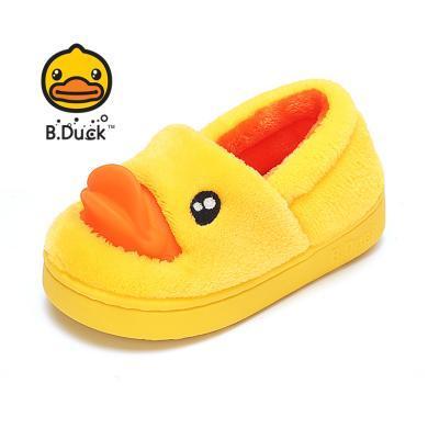 B.Duck小黃鴨親子居家室內棉拖男童女童加絨保暖鞋中小童大童兒童B5076901