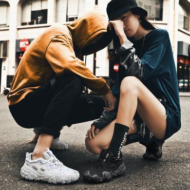OKKOins超火網紅情侶潮鞋2020新款百搭復古做舊運動臟臟老爹鞋WL-925