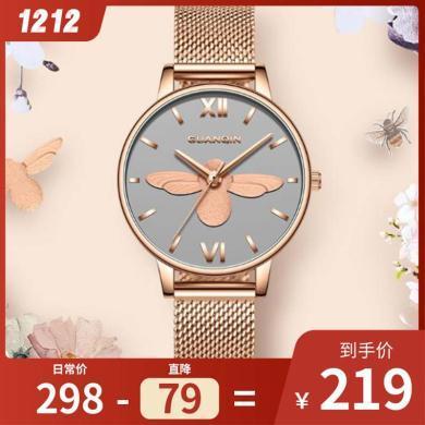 正品冠琴新款手表女學生ins風簡約氣質防水時尚潮流女士手表大氣