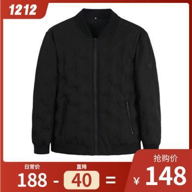 迪仕尼奴男士厚款羽絨服雙面可穿防水防風白鴨絨羽絨短款冬季外套8063G