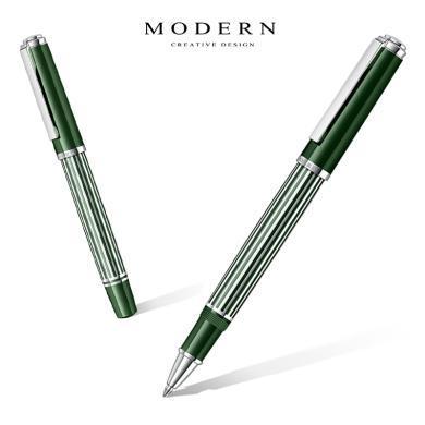 德國MODERN流線M6100寶珠簽字筆金屬筆桿中性水筆訂制刻字禮物