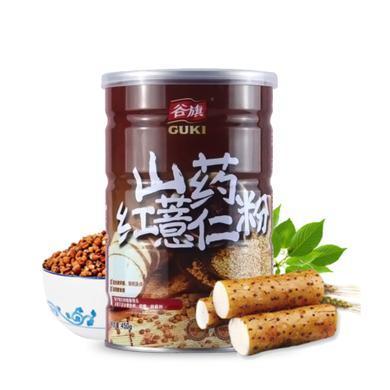 谷旗 進口山藥紅薏仁粉薏米糊早代餐飽腹 即食五谷雜糧養生粥食品