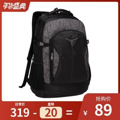 愛華仕雙肩包電腦背包大容量旅行包女潮旅游運動中學生書包男包