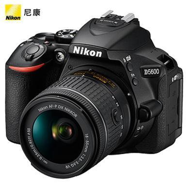 尼康(Nikon)D5600 單反相機 數碼相機 (AF-P DX 尼克爾 18-55mm f/3.5-5.6G VR 單反鏡頭)