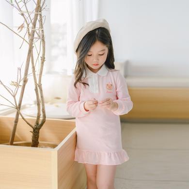 cicie 2020年春款中小宝宝儿童裙子韩版印花女童连衣裙  C01006