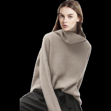 寬松慵懶風毛衣女套頭針織衫2019春季新款時尚洋氣打底長袖毛衫潮