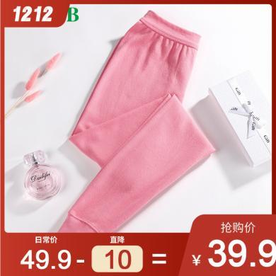 A&Bab內衣女士秋褲薄款純棉高腰修身打底保暖棉毛褲(T008)
