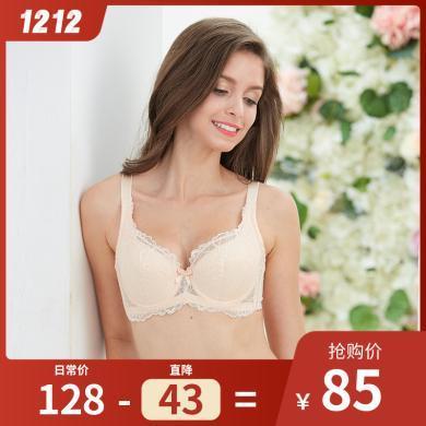 古今聚攏文胸側收調整型胸罩大胸顯小薄款蕾絲舒適內衣女0I313