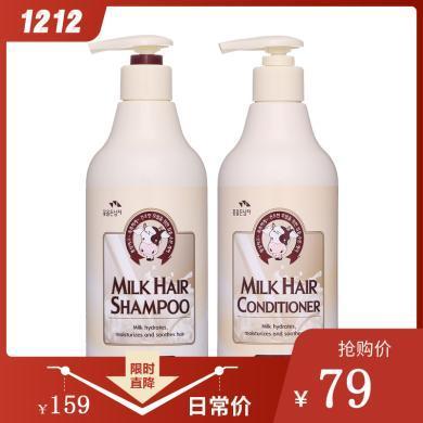所望  牛奶滋養無硅油洗發水護發素超值套組500ml*2