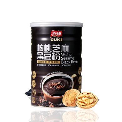 【支持购物卡】谷旗 黑芝麻核桃黑豆粉进口即冲即食营养早餐代餐黑糖味*450g单罐装