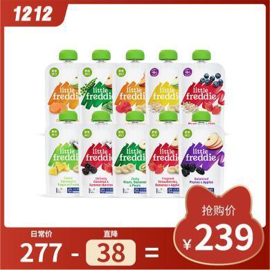 小皮歐洲原裝進口10口味繽紛水果泥100g*10袋 嬰兒輔食寶寶果泥