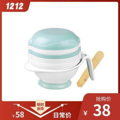 喔喔牛多功能輔食料理研磨碗 輔食手動制作研磨器 嬰兒研磨碗套裝