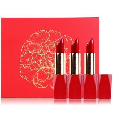 【支持購物卡】1套*美國Estee Lauder/雅詩蘭黛 新年限量口紅套裝禮盒330/340/350香港直郵