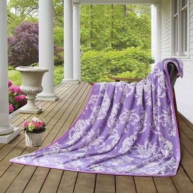 LOVO家纺 法兰绒?#22909;?#27631;盖毯秋冬保暖毯子