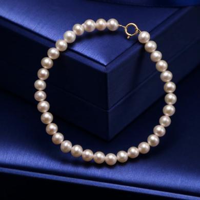 風下Hrfly 天然珍珠手鏈 串珠手鏈 925純銀鍍金手串 珍珠手鏈5A淡水珠強光 禮盒包裝