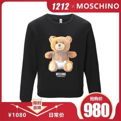 [支持购物卡]MOSCHINO/莫斯奇诺 内裤熊印花 女款卫衣 1704