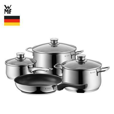 WMF 德國福騰寶鍋具套裝 家用雙耳燉鍋煎盤奶鍋四件套07.3027.6040