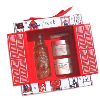 【支持購物卡】Fresh/馥蕾詩 2019圣誕限量面部護理套裝 面霜30ML+面膜30ML+水100ML+唇膏 4件套