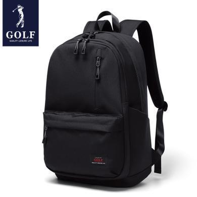 高爾夫GOLF休閑雙肩包時尚男士多功能包輕便防水大容量背包  D933878