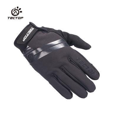 探拓戶外秋冬季節觸屏保暖防滑耐磨手套旅行登山騎行軟殼防風手套