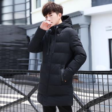 史克维斯冬季棉衣男韩版潮流中长款男士羽绒棉服棉袄加厚保暖外套M5822