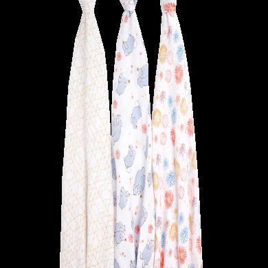 美國aden+anais嬰兒襁褓包巾寶寶紗布蓋毯蓋被鼠年生肖款送禮禮盒
