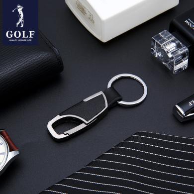 GOLF高尔夫汽车钥匙扣金属质感耐磨不掉色弹簧卡扣商务简约   Q841886