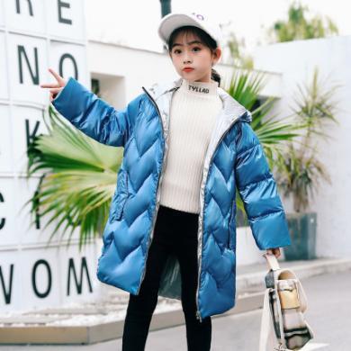 銘佳童話新款冬季女童裝兒童洋氣秋冬裝大童外套女孩中長款時髦羽絨服W9535YR780