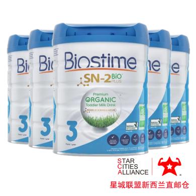 【支持購物卡】6罐*新西蘭Biostime 合生元 有機奶粉三段 (1-3歲)嬰幼兒寶寶奶粉800g /罐 新西蘭空運直郵