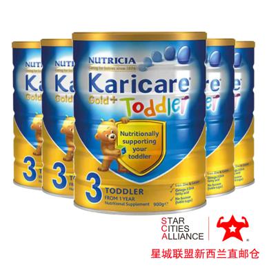 【支持购物卡】6罐*新西兰Karicare 可瑞康金装三段奶粉 (1-3岁)婴幼儿宝宝奶粉900g /罐 新西兰空运直邮