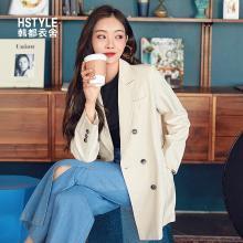 韩都衣舍2019春装新款女装韩版学生宽松上衣外套西装JW13028筱
