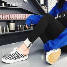 七格格小脚打底裤女外穿春季2019新款韩版显瘦冬高腰黑色紧身裤子