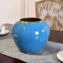 DEVY 新中式陶瓷水培花瓶现代简约客厅餐厅鲜花仿真花插花艺摆件