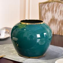 DEVY 现代轻奢水培陶瓷花瓶新中式客厅装饰鲜花仿真花插花艺摆件