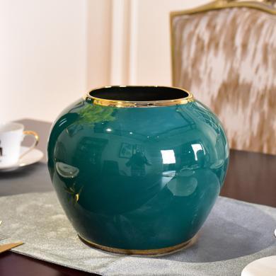 DEVY 現代輕奢水培陶瓷花瓶新中式客廳裝飾鮮花仿真花插花藝擺件
