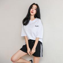 韩都衣舍2019夏装新款女装韩版宽松小个子休闲时尚套装IG8396僥