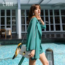 七格格西装外套女韩版宽松休闲小西服中长款2019新款夏季收腰上衣