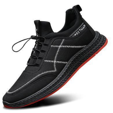 牧惠森百搭男士休閑鞋新款運動鞋透氣跑步鞋子男TBKLXK
