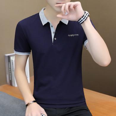 墨麥客新款男士短袖t恤純棉翻領polo衫男式t恤T125