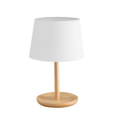 北歐臺燈臥室床頭燈輕奢創意客廳實木布藝酒店裝飾臺燈