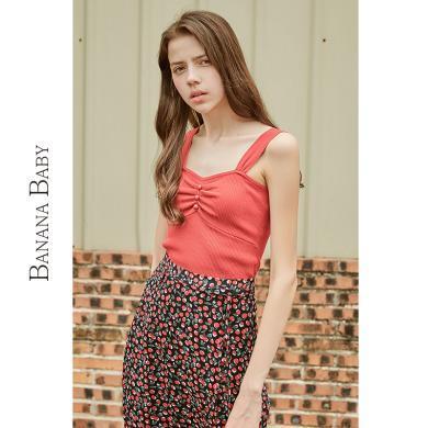 BANANA BABY2019夏新款性感外穿冰丝针织吊带背心女上衣内搭打底D292BX710