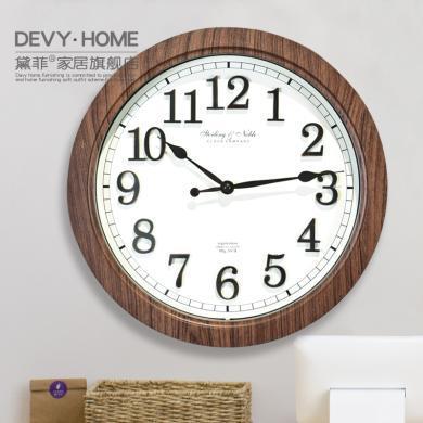 DEVY北歐現代簡約鐘表家用客廳餐廳臥室靜音掛鐘時尚裝飾鐘表壁飾