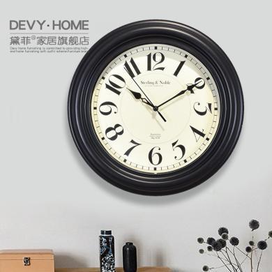 DEVY现代简约数?#27490;?#38047;客厅餐厅卧室钟表创意时钟个性挂表时尚家用