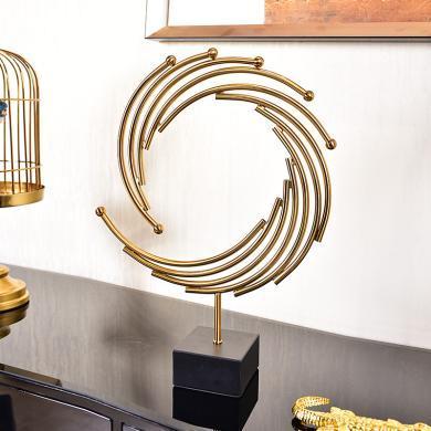 DEVY歐式輕奢玄關電視柜酒柜裝飾工藝品擺件客廳家居樣板房間擺設