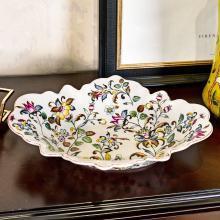 墨菲 歐式田園陶瓷水果盤客廳茶幾擺件家用美式鄉村創意家居裝飾